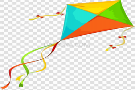 Colorful Kite PNG Clipart