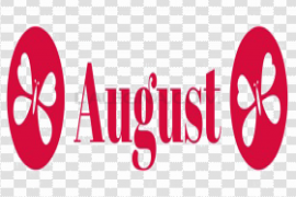 August PNG Clipart