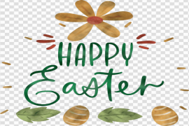 Happy Easter Text PNG Free Download