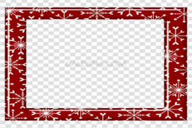 Square Christmas Frame PNG Pic