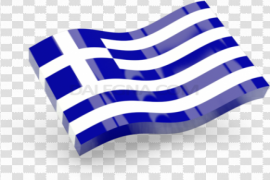 Abstract Greece Flag PNG File