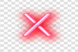 Pink Neon Alphabet PNG File