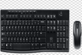 Black Keyboard And Mouse Transparent PNG