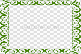 Green Border Frame PNG Picture