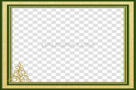 Square Christmas Frame PNG Background Image