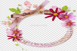 Garland Round Floral PNG HD