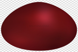 Red Easter Egg PNG File