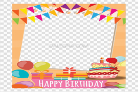 Happy Birthday Frame PNG Clipart