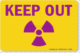 Keep Out Warning PNG Pic