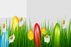 Easter Egg Grass PNG Photo