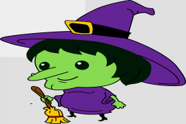 Witch Face PNG File