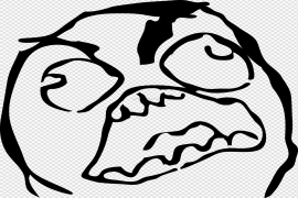 Angry Face Meme PNG Pic