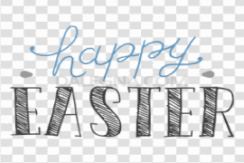 Happy Easter Logo PNG Clipart