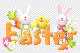 Happy Easter Logo PNG Photos