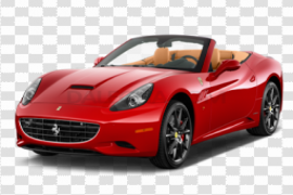 Side Red Ferrari Front View PNG Pic