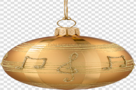 Gold Christmas Bauble PNG Free Download