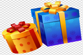 Blue Christmas Gift PNG Transparent