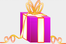 Pink Birthday Gift Vector Transparent PNG