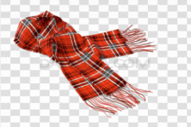 Red Scarf PNG Photo