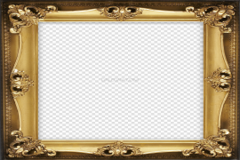 Photo Brown Frame PNG Clipart