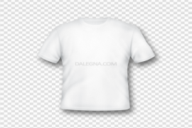 Blank White T-Shirt Template PNG