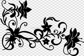 Flower Silhouette PNG File