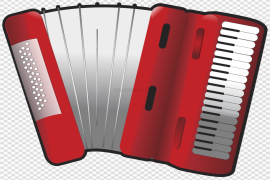 Vector Red Accordion PNG Pic