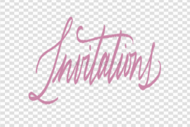 Invitation PNG Picture
