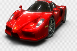Side Red Ferrari Front View PNG File