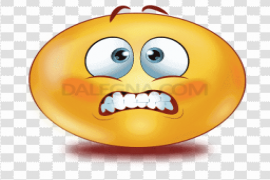 Gradient Scared Emoji PNG Clipart