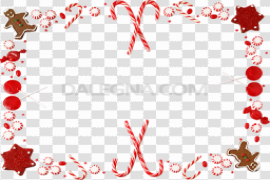 Red Christmas Frame PNG Photos