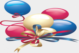 Colored Birthday Party Balloon PNG