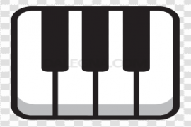 Vector Music Keyboard PNG Pic