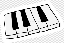 Vector Music Keyboard PNG File