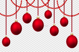 Red Christmas Bauble Hanging PNG Picture