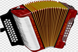 Red Accordion PNG Photos