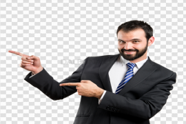 Businessman Poiting PNG