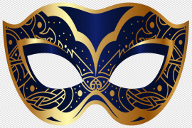 Colorful Carnival Eye Mask PNG Clipart