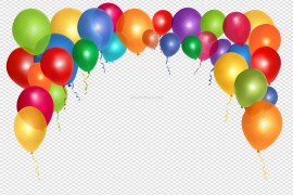 Vector Birthday Party Balloon Transparent PNG