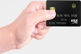 Male Hand Holding Credit Card PNG Photos