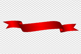 Red Ribbon PNG Transparent Picture