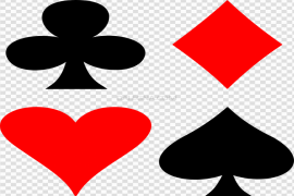 Playing Card Suit Symbols PNG