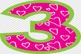 Cute Number PNG Photo