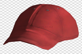 Baseball Red Hat PNG File