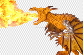 Dragon Fire Flame PNG Picture