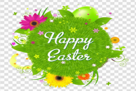 Happy Easter Logo Word PNG HD