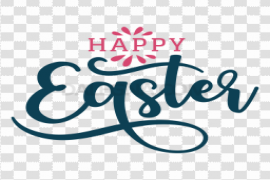 Happy Easter Logo Word PNG Clipart