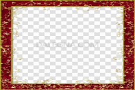 Maroon Border Frame PNG Clipart