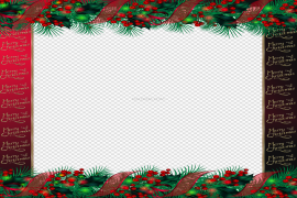 Red Christmas Frame PNG Pic