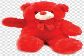 Red Teddy Bear PNG Transparent Image
